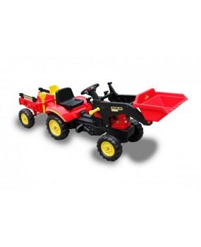Šľapací traktor s vlečkou a príslušenstvom